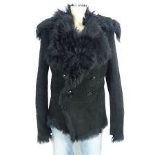 PATRIZIA PEPE Lammfellmantel Jacke Fell Fur Schwarz Gr. IT 46 DE 40 565f1fcb8c