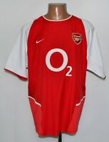 ARSENAL LONDON 2002/2003/2004 HOME FOOTBALL SHIRT JERSEY NIKE SIZE L ADULT
