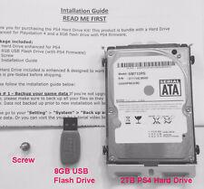 1.75TB Playstation4 (PS4) Hard Drive w/ Mounting Kit + 8GB Flash Drive CUH 1200
