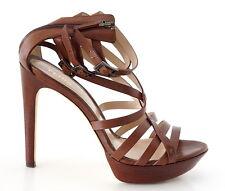 Fendi Shoe Strappy Ankle Strap Platform Cognac 37 / 7 Mint
