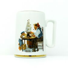 Norman Rockwell For A Good Boy Mug 1985 Porcelain Tankard Museum Collector Mugs