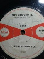 "Claude ""Fats"" Greene Orch.-Fat's Shake'm Up Pt. I 7"" Vinyl Single 1966 UK COPY"