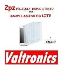 2x PELLICOLA PROTEGGI DISPLAY per HUAWEI ASCEND P8 LITE triplo strato SCREEN