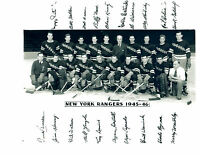 1945 1946 NEW YORK RANGERS 8X10 TEAM  PHOTO  HOCKEY NHL USA HOF