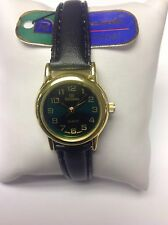 New Ricardo Ladies Green Face Clear Dial Quartz Watch - Leather Strap  #65G