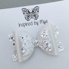 Hair Clip Girls Bow OR Baby Headband Hair Accessories Large Faux Leather Glitter