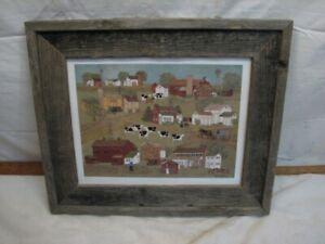 Arlene Fisher Vintage Folk Art Amish Farm LE Print Lancaster Co PA Artist