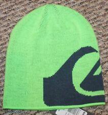 d22dccd5a25 Boys Quiksilver Beanie Hat (Knit  Neon Green Blue) -
