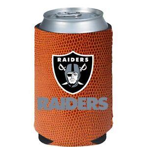 Las Vegas Raiders Pigskin Can Bottle Cooler, NFL Football Coozie Koozie Coolie