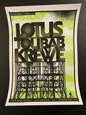 Lotus Toubab Krewe Richmond 10 Poster Silkscreen Numbered Only 80! Justin Helton
