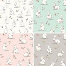 Lifestyle Woodland Bunnies Bunny Rabbits Wildlife 100% Cotton Fabric 140cm Wide