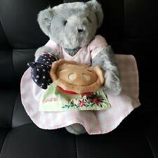Vermont Teddy Bear Co. Grandma Pie Oven Mitt Embroidery Apron Posable Usa made