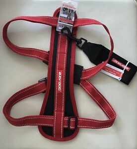 Extra Large Red : EZYDOG H09LR Ezy Dog Chest Plate Harness & Car Seat Belt Loop