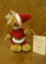"Deb Canham Artist Designs Flump Santa, Flump Dumphys Coll. 3.75"" Mohair, Le"