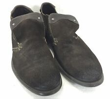 Bacco Bucci Mens 9.5 Black Suede Loafers Slip-On Shoes Made in Italy