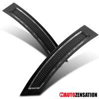 07-12 BMW E92/E93 2Dr Black Clear Front Bumper Side Markers