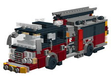 Lego Firetruck building instructions  + 1 Free gift instruction - No bricks!