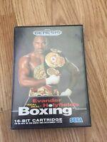 """Evander Holyfield's """"Real Deal"""" Boxing  Sega Genesis Cib With Manual SG1"""