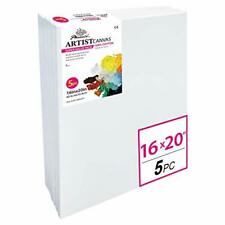 Phoenix White Blank Cotton Stretched Canvas Artist Painting - 16x20 Inch / 5 Pac