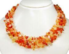 49fe18865367 Hermoso Collar Cadena de Minerales en Piedra Preciosa Ágata Varias Filas
