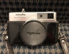Minolta AutoPak 700 Camera w/Leather Case & Strap