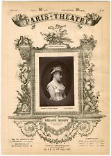 Lemercier, Paris-Théâtre, Mélanie Reboux (1834-1876), chanteuse Vintage albumen