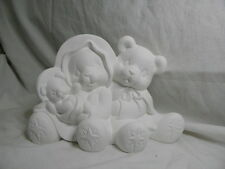 Ceramic Bisque Ready to Paint - Nativity Bear Holy Family 16cm Tall