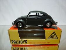 POLITOYS 84 VOLKSWAGEN 1200 BEETLE - FIBRE GLASS - 1:43 RARE - EXCELLENT IN BOX