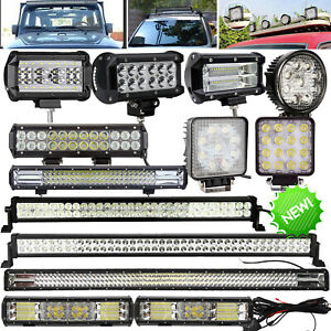 Offroad SUV Truck 4X4 Car 12V 24V CREE LED Work Roof Lights Bar Driving Lamp UK