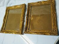 "set of 2, 10"" x 12"" Vintage Baroque Gold picture frames, holds 8 X 10 photo"