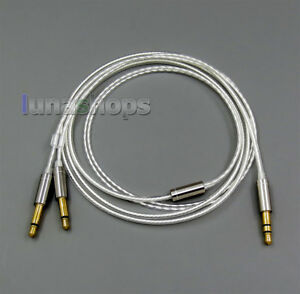 Pure Silver Plated Cable for Final Audio vi Iriver AK T1P Denon AH-D600 D7100 V