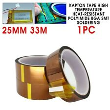 25mm*33 100ft Kapton Tape BGA High Temperature Heat Resistant Polyimide NEW