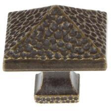 GlideRite 1.25-inch Antique Brass Hammered Pyramid Cabinet Knobs (Pack of 10)