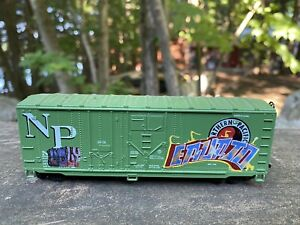 Vintage Customized Northern Pacific Car With Graffiti HO Scale