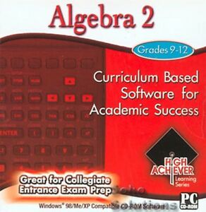 High Achiever Algebra 2  Brand New - Pc Education Software - Fast Post