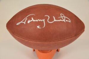 Johnny Unitas Signed Wilson Official NFL Paul Tagliabue
