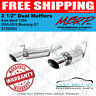 """MBRP 2005-06-07-08-09-10 Mustang GT 2 1/2"""" Dual Mufflers Axle Back T304 S7200304"""
