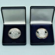 Silber Medaillen berühmter Personen
