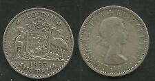 AUSTRALIA 1953 QUEEN ELIZABETH II SILVER FLORIN Two Shillings 2/- COIN