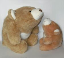 "Gund 13"" Snuffles + 7"" Snuff lot two tone tan white and caramel bears 2156 2147"