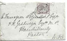 GB 1896 1d Lilac Cover with Norwich 575 Duplex to Parton
