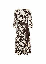 Hobbs Floral Sandra Dress Midi Fit & Flare 3/4 Sleeve