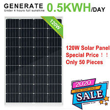 100W 120W Watt Solar Panel High Efficiency Battery Charge Home Power Camping RV