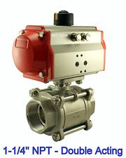 1-1/4 Inch Pneumatic Double Acting Air Return Air Actuated Stainless Ball Valve