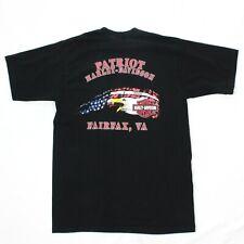 Harley Davidson Shirt Adult Large L Black Biker Tee FAIRFAX VA Patriots Ride Men