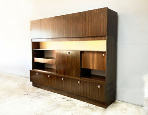 1970's mid century very large rosewood wall unit (width 2.5M)