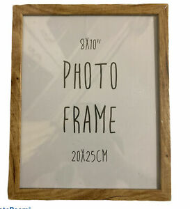 """Oak Wood Classic Modern Square Photo Frames Picture Frame 8x1 0"""" inches 20x25cm"""