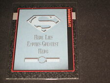 DEATH OF SUPERMAN 1992 DC DOOMSDAY PROTOTYPE AUTHENTIC BASEBALL CARD RARE NICE!