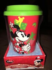 New in Package Disney Mickey Mouse Ceramic Mug with Silicone Lid Christmas