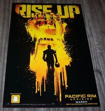 "PACIFIC RIM UPRISING Movie RISE UP NYCC Comic Con 2017 11"" X 17"" PROMO POSTER"